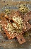 Raw Hemp seeds stock photos