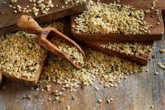 Raw Hemp seeds royalty free stock image