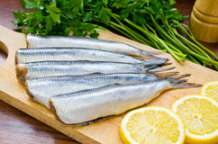 Raw herrings Royalty Free Stock Images
