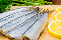Raw herrings Stock Photo