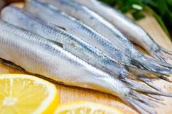 Raw herrings Stock Photos