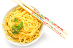 Raw Hokkien Noodle Stock Photo