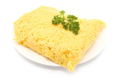 Raw Hokkien Noodle Royalty Free Stock Photography