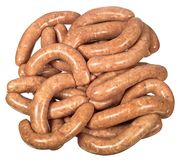 Raw home sausage Royalty Free Stock Photography