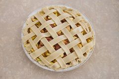 Raw Homemade Apple Pie royalty free stock photos