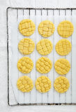 Raw Homemade braided Cookies Stock Photos