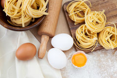 Raw homemade pasta Royalty Free Stock Image