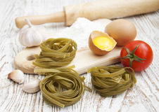 Raw homemade pasta Royalty Free Stock Photo