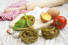 Raw homemade pasta Royalty Free Stock Photography