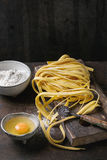 Raw homemade pasta tagliatelle Royalty Free Stock Photography