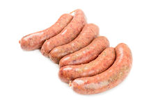 Raw homemade sausages Royalty Free Stock Images