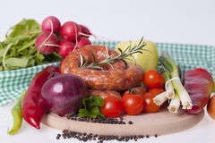 Raw homemade sausages Stock Image