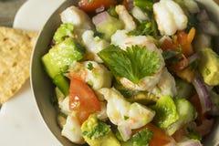 Raw Homemade Shrimp Ceviche royalty free stock photo