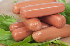 Raw hot dog sausage Royalty Free Stock Photography