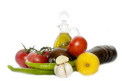 Raw ingredients Royalty Free Stock Photography