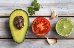 Raw Ingredients for Guac Royalty Free Stock Images