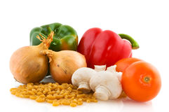 Raw ingredients for pasta Stock Photography