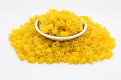 Raw Italian macaroni pasta Stock Photography