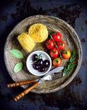 Raw Italian pasta Stock Image