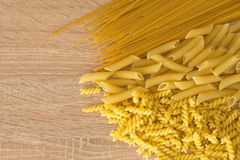 Raw italian pasta Royalty Free Stock Images