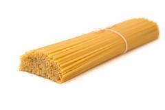 Raw Italian pasta. On white background Royalty Free Stock Image