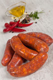 Raw italian sausage Stock Photography