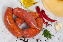 Raw italian sausage Royalty Free Stock Image