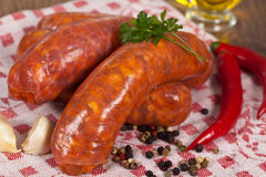 Raw italian sausage Royalty Free Stock Photography