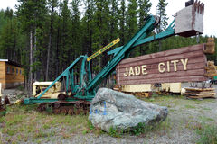 Raw jade mined in british columbia royalty free stock photography