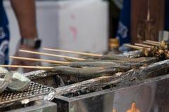 Raw japan grill fish Royalty Free Stock Photo