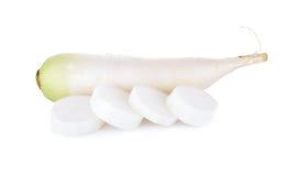 Raw Japanese radish on white background. Raw Japanese radish on a white background Stock Photo
