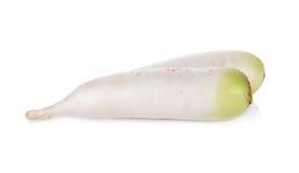 Raw Japanese radish on white background. Raw Japanese radish on a white background Stock Image