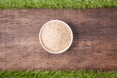 Raw jasmine brown rice Royalty Free Stock Photography
