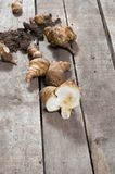 Raw Jerusalem artichoke stock image