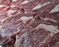 Raw juicy meat steaks Stock Photo