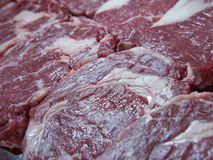 Raw juicy meat steaks Royalty Free Stock Photo