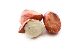 Raw jungle peanuts Royalty Free Stock Photos