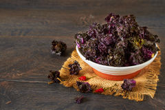 Raw kale sprouts on a table Royalty Free Stock Images