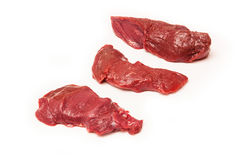 Raw Kangaroo meat, isolated Royalty Free Stock Photo