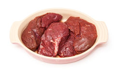 Raw kangaroo meat steaks Stock Image