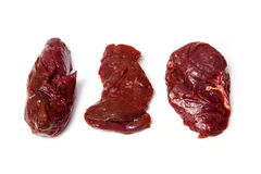 Raw kangaroo meat steaks  Royalty Free Stock Photos