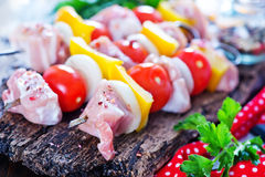 Raw kebab Stock Images