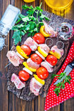 Raw kebab Royalty Free Stock Images