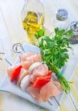 Raw kebab Stock Photography