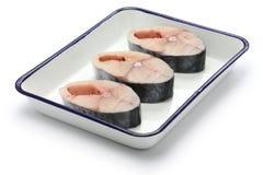 Raw king mackerel slices Stock Image