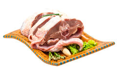 Raw lamb Stock Image