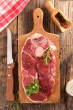 Raw lamb chop Stock Photos