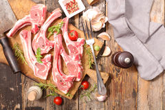 Raw lamb chop Stock Photo