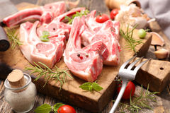 Raw lamb chop Royalty Free Stock Photo