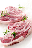 Raw lamb chops Royalty Free Stock Image